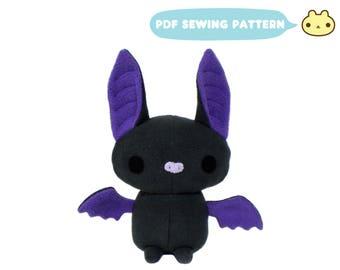 Plush Stuffed Animal Pattern, Bat Sewing Pattern, DIY Stuffed Bat, Bat PDF, Stuffed Bat Toy, Bat Pattern, Plushy Bat Toy Pattern, Bat Sewing