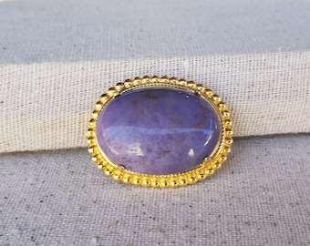 Vintage Brooch with Purple Stone