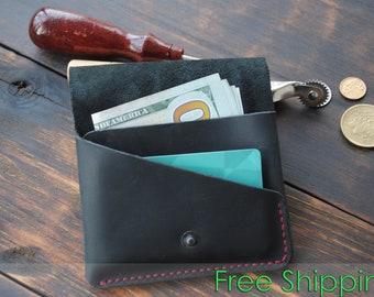 Front Pocket Wallet Men, Credit Card Wallet Men, Slim Wallet Coin, Minimalist Leather Wallet, Credit Card Organizer, Credit Card Wallet