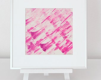 Abstract image 4, neon pink-Rosa, original, mixed media, acrylic, modern, for her, for him, home decode, type, #christmas, #Weihnachten