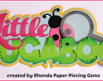 Little Bugaboo title girl  for premade scrapbook pages album or cards by Rhonda