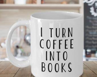 writer mug, writer coffee mug, funny writer mug, funny mug for writers funny mug for editors author mug, writing mug, i turn coffee into,