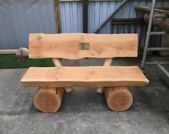 Garden bench with backrest