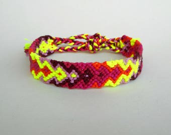 Friendship arrow bracelet, Chevron bracelet, Friendship jewelry, Ombre bracelet, Neon yellow, Colorful jewelry, Girlfriend gift, Bohemian