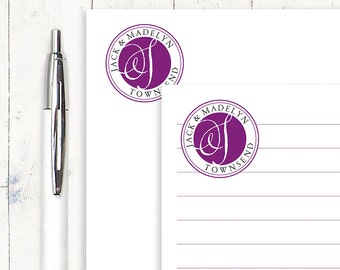 personalized notePAD- DELUXE MONOGRAM - stationery - stationary - monogrammed notepad - choose color