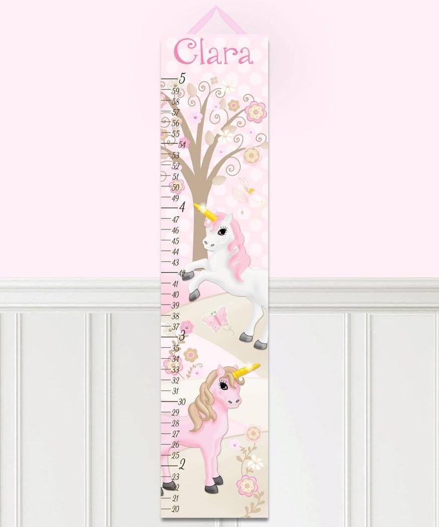 Canvas growth chart pink princess unicorn patterns kids zoom nvjuhfo Gallery