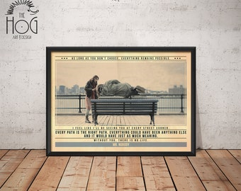 MR NOBODY Poster - Quote Retro Movie Poster - Movie Print, Film Poster, Wall Art