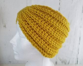 Evie Ear Warmer.Ready to Ship//MUSTARD YELLOW Ear Warmer//Crochet Warmer//Headband//Ribbed Ear Warmer//Head Wrap