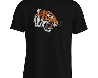 Beautiful Realistic Angry Tiger Men's T-Shirt y492m
