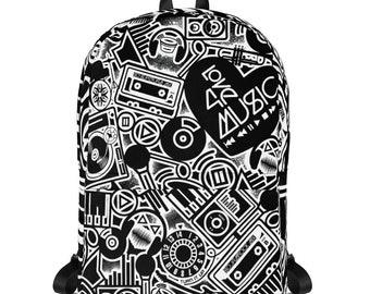 Love 4 Music Black Backpack