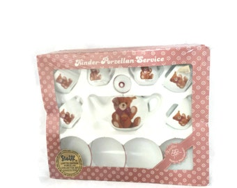 Rare New Steiff Tea Set Porcelain Collectors Set Limited Edition No. 573/5000 New Old Stock NOS Made in West Germany Vintage Home Decor Mom