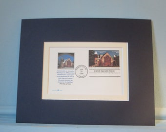 Princeton University founded in 1746 featuring Alexander Hall & 250th Anniversary First Day Cover