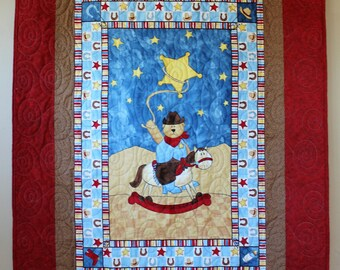 Round Em Up Cowboy Quilt Toddler/Kids/Baby FREE SHIPPING!