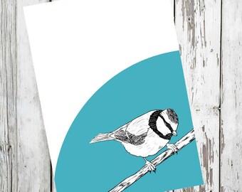 Notebook A5 Magpie, blackbird illustration