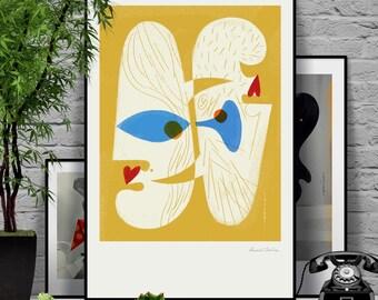Honey. Original illustration art poster giclée print signed by Paweł Jońca.