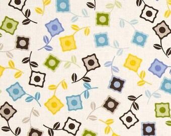 "22"" Jenean Morrison OOP '11 Power Pop PWJM52 Sweet Cornflower Westminster Fibers FreeSpirit Designer Quilting Sewing Quilt Floral Mod Fabric"