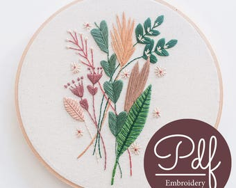 Falling For You - Embroidery pattern - PDF Digital Download