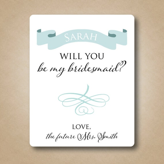 Will you be my maid of honor wine label