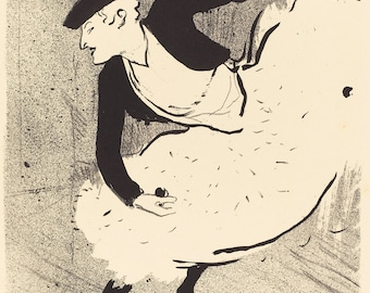 The Art of Toulouse-Lautrec. Fine Art Reproduction. Edmee Lescot, 1893.  Fine Art Print.