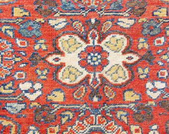 """Outstanding, bold, all over antique, decorative, 19th Mahal Persian rug! (11'x8'-3"""")"""