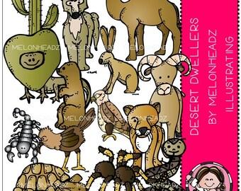 Desert Animal Dwellers clip art
