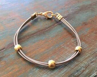 Guitar string bracelet, Recycled bracelet, Music jewelry, Guitar bracelet