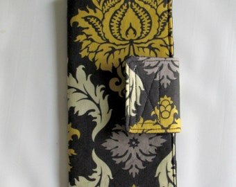 12 Slot  Business Card Holder, Credit Card Organizer Wallet, Card Organizer, Card Wallet, Loyalty Card Organizer, Gift Card Wallet, Damask