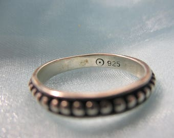 9.25 Silver Rope Design Band, Ring
