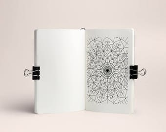 Mood Mandala sticker, 30 days, for Planner and Bullet Journal