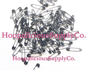 22mm Safety Pins. Sprayed Black. You Choose Quantity. Multiples of 25pc. Safety Pin Movement. Be a safe place for others.  FAST SHIPPING.