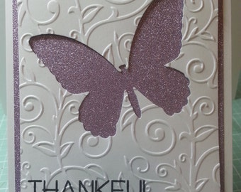Handmade Thankful For You Card, For Her