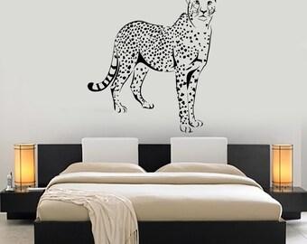 Wall Vinyl Sticker Leopard Gepard Cheetah Jungle African Ethnic Decor Mural Art 1465dz