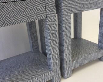 Custom Built Grasscloth End Tables / Nightstands - COM