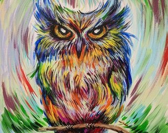 Expressionistic Owl