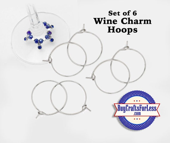 Set of WiNE or Bottle CHARMs, or Earring HOOPS, 6pcs to 100 pcs, Blank-Ready to Craft +FREE SHiPPiNG & Discounts*