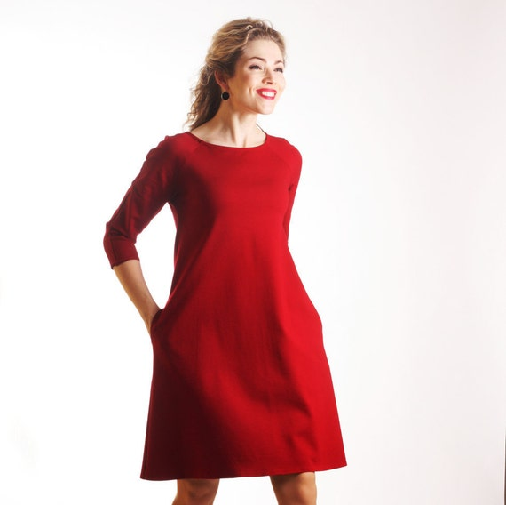 Casual Red Dress