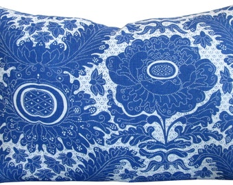 Ananas Blue-Raoul-High End Designer Decorative Pillow Cover-Blue Floral- Accent Pillow-Single Sided