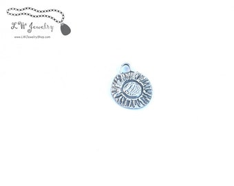 Fine Silver, silver, Pendant, Sunflower
