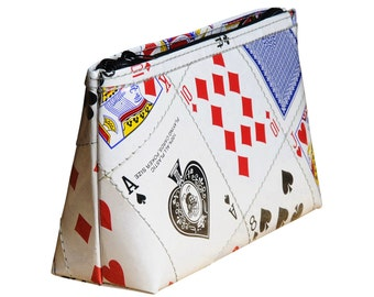 Makeup case using playing cards, FREE SHIPPING, vegan case, eco-friendly makeup bag, sustainable purse, recycled gifts, ethical gifts