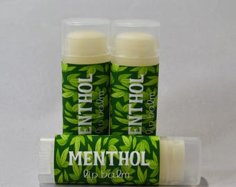 Menthol - Sweetened Lip Balm - Natural Lip Butter - Handmade - Bath and Beauty