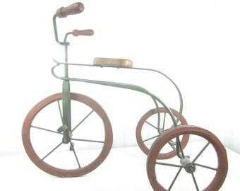Vintage Doll Tricycle, Photo Prop, Metal Trike