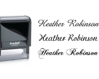 Custom Name Stamp, Signature Stamp, Self Inking Name Stamp, Calligraphy Stamp, Cursive Name Stamp