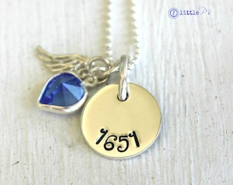 Hero Jewelry Inspirational Jewelry Personalized Jewelry Police Office Badge Number Hand Stamped Angel Hero Necklace