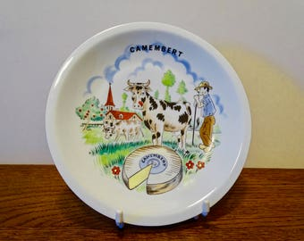 Camembert Cheese plate - Porcelain - Made in France