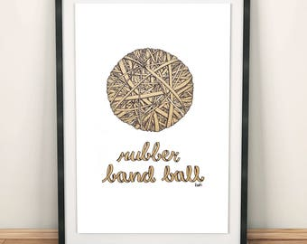 Rubber band ball printable