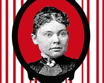 Lizzie Borden Holiday Card killer macabre goth