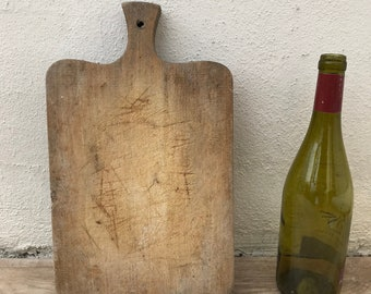 ANTIQUE VINTAGE FRENCH bread or chopping cutting board wood 09041815