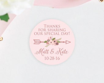 Custom Wedding Favor Stickers Love Is Sweet Partyink On Etsy Labels For  Wedding Favors