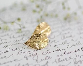 Gold Leaf Studs, Bridesmaid Mother Gift, Leaf Stud Earrings, Bohemian Wedding Earrings, Delicate Studs, Bridesmaid Jewelry, Greek Earrings