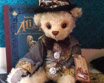 The Mad Hatter, handmade Bear, unique piece